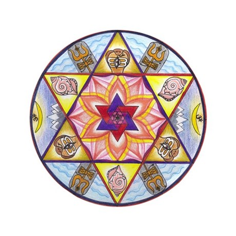 "Shiva Shakti Mandala 3.5"" Button"