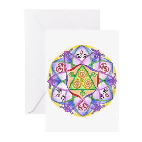 Celtic Triple Goddess Mandala.jpg Greeting Cards (