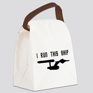 I Run This Ship Canvas Lunch Bag