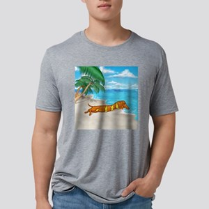wiener babe Mens Tri-blend T-Shirt