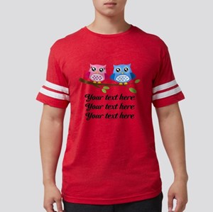 personalized add text Owls Mens Football Shirt
