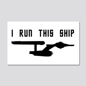 I Run This Ship 20x12 Wall Decal