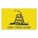 gadsden flag Sticker (Rectangle 10 pk)