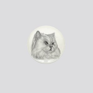 Persian Cat Mini Button