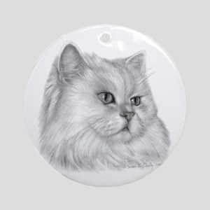 Persian Cat Ornament (Round)
