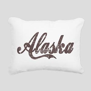Vintage Alaska Rectangular Canvas Pillow