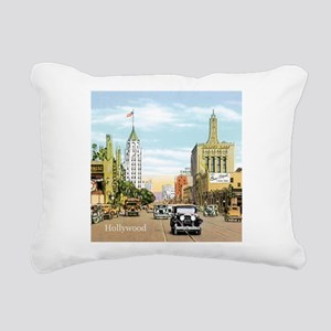 Vintage Hollywood Rectangular Canvas Pillow