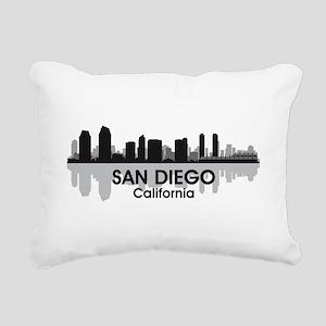 San Diego Skyline Rectangular Canvas Pillow
