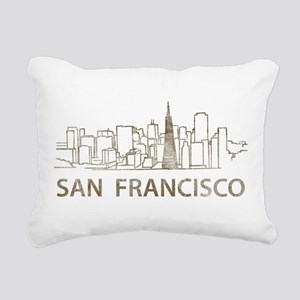Vintage San Francisco Rectangular Canvas Pillow