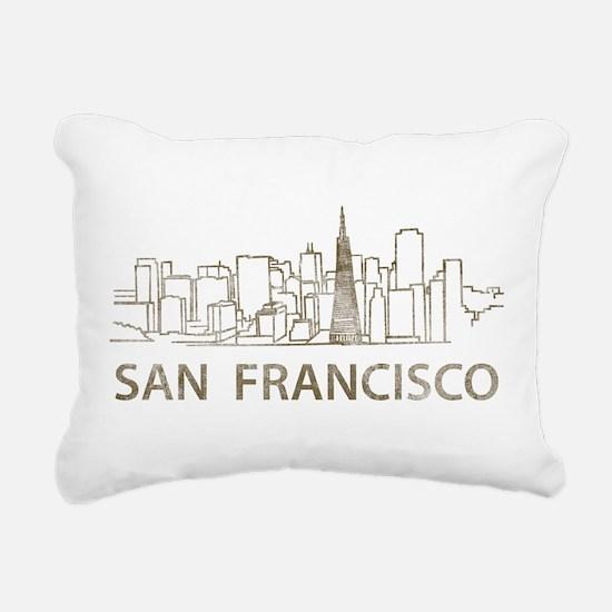 Vintage San Francisco Rectangular Canvas Pillow