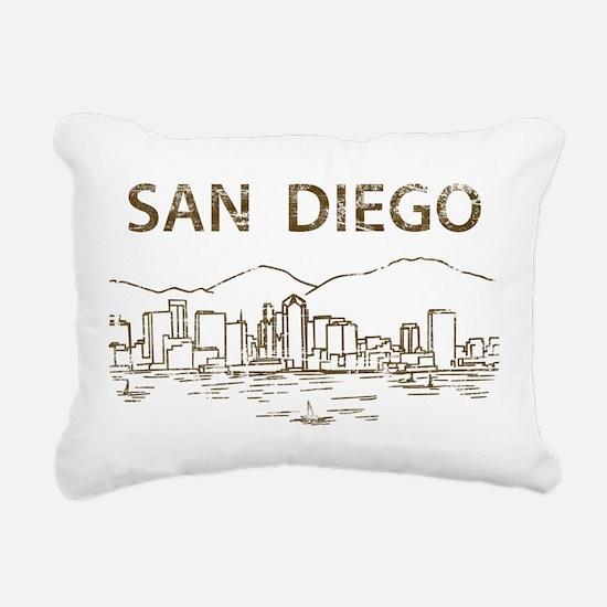 Vintage San Diego Rectangular Canvas Pillow