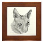 Cornish Rex Cat Framed Tile