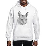 Cornish Rex Cat Hooded Sweatshirt