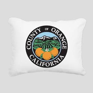 Orange County Seal Rectangular Canvas Pillow