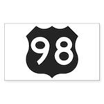 Hwy 98 Sticker (Rectangle 10 pk)