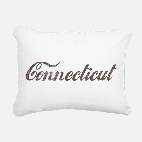 Vintage Connecticut Rectangular Canvas Pillow