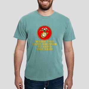 blk_Care_Enough_Send_Bes Mens Comfort Colors Shirt