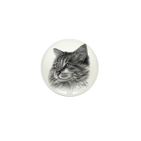 Maine Coon Cat Mini Button (10 pack)