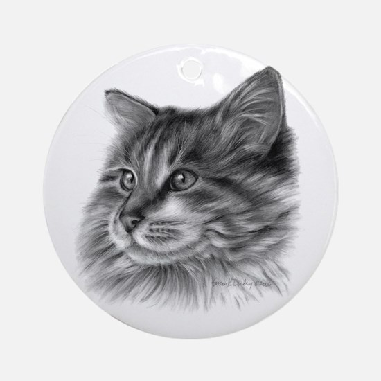Maine Coon Cat Ornament (Round)