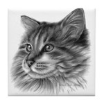 Maine Coon Cat Tile Coaster