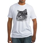 Maine Coon Cat Fitted T-Shirt