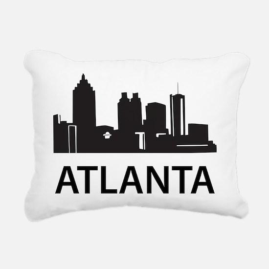 Atlanta Skyline Rectangular Canvas Pillow