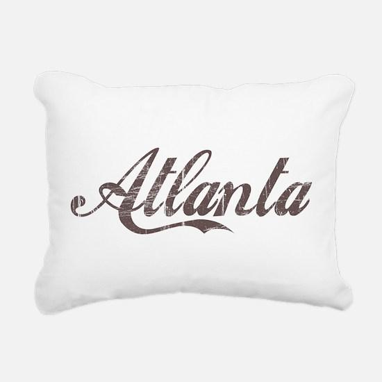 Vintage Atlanta Rectangular Canvas Pillow