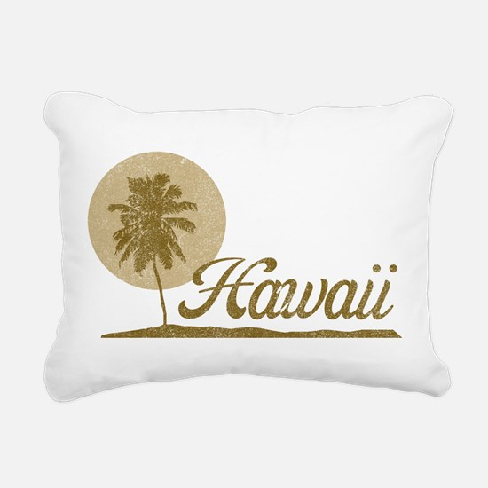 Palm Tree Hawaii Rectangular Canvas Pillow