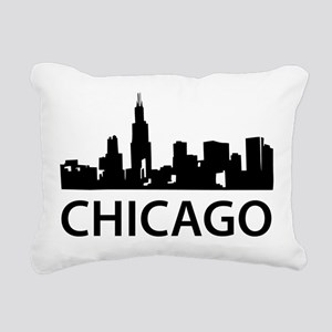 Chicago Skyline Rectangular Canvas Pillow