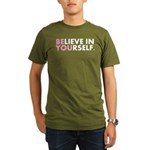 Believe in Yourself (white) Organic Men's T-Shirt