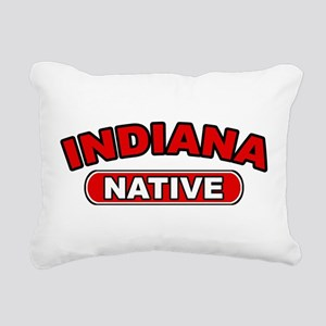 Indiana Native Rectangular Canvas Pillow