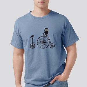 Bird and Owl on Bikes Mens Comfort Colors Shirt