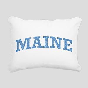 Vintage Maine Rectangular Canvas Pillow