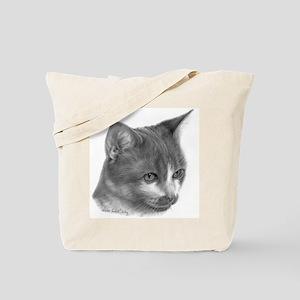 Orange & White Short-Hair Cat Tote Bag