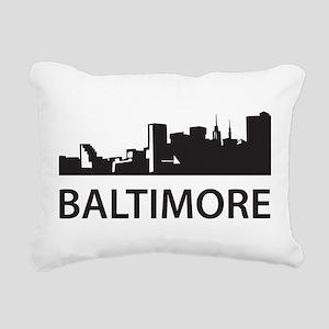 Baltimore Skyline Rectangular Canvas Pillow