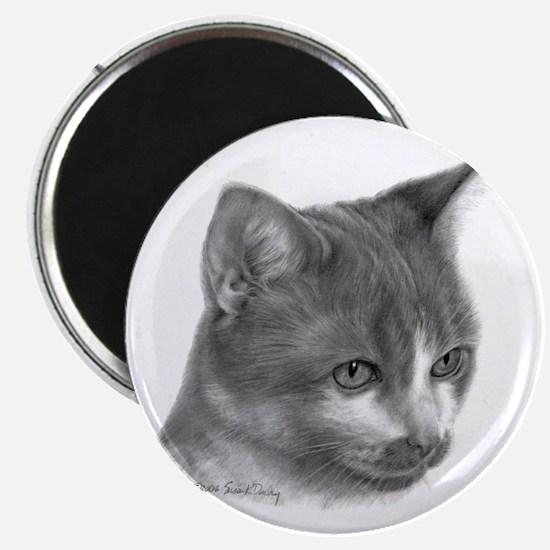 Orange & White Short-Hair Cat Magnet
