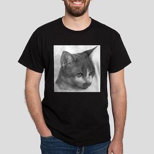 Orange & White Short-Hair Cat Dark T-Shirt