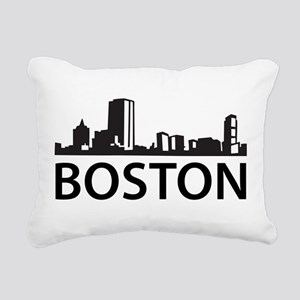 Boston Skyline Rectangular Canvas Pillow