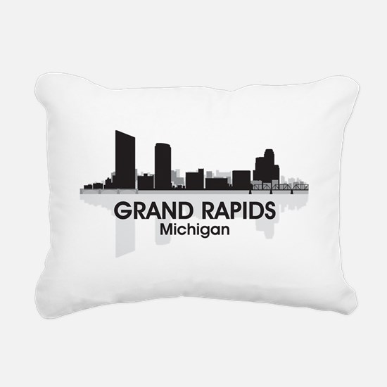 Grand Rapids Skyline Rectangular Canvas Pillow