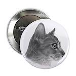 Abysinnian Cat Button