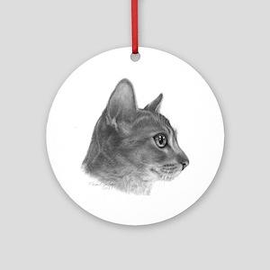 Abysinnian Cat Ornament (Round)