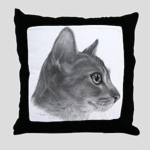 Abysinnian Cat Throw Pillow