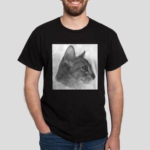 Abysinnian Cat Black T-Shirt