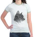 Abysinnian Cat Jr. Ringer T-Shirt