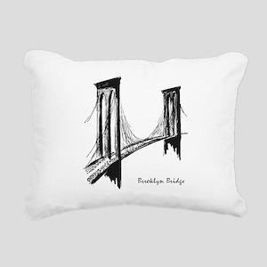 Brooklyn Bridge (Sketch) Rectangular Canvas Pillow