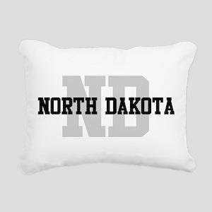 ND North Dakota Rectangular Canvas Pillow