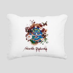 Butterfly North Dakota Rectangular Canvas Pillow