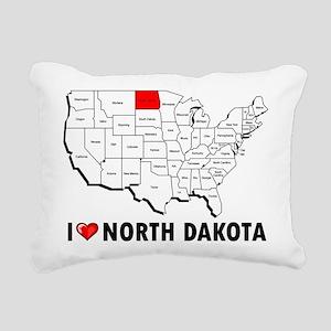 I Love North Dakota Rectangular Canvas Pillow
