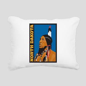 North Dakota Rectangular Canvas Pillow