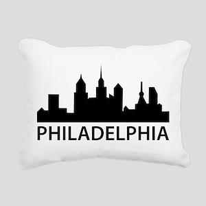 Philadelphia Skyline Rectangular Canvas Pillow